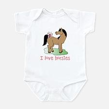 Cute horse lover girls Infant Bodysuit