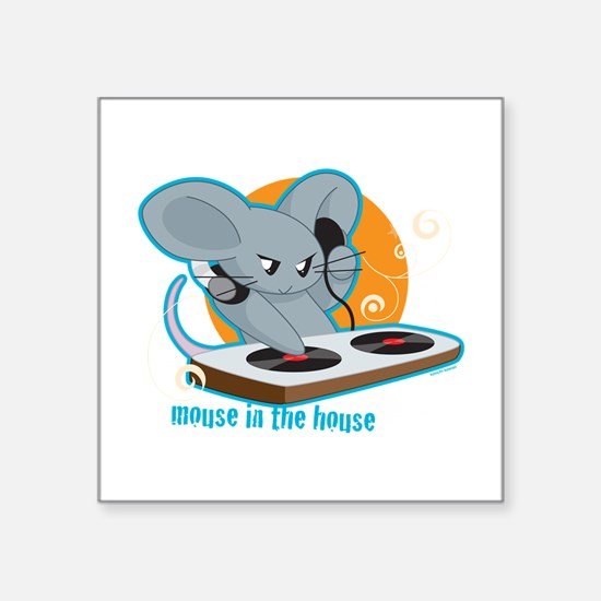 "Mouse in the House Square Sticker 3"" x 3"""