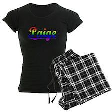 Paige, Rainbow, pajamas
