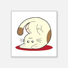 "Kitty Square Sticker 3"" x 3"""