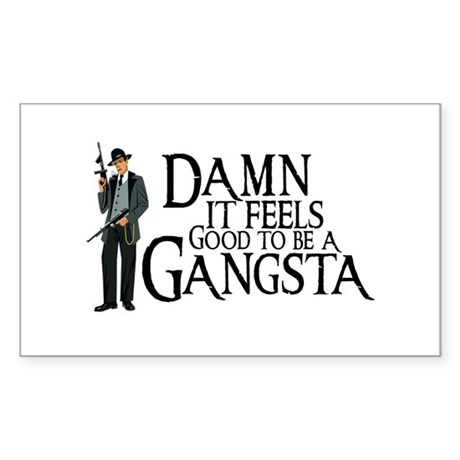 Gangsta Man Sticker (Rectangle)