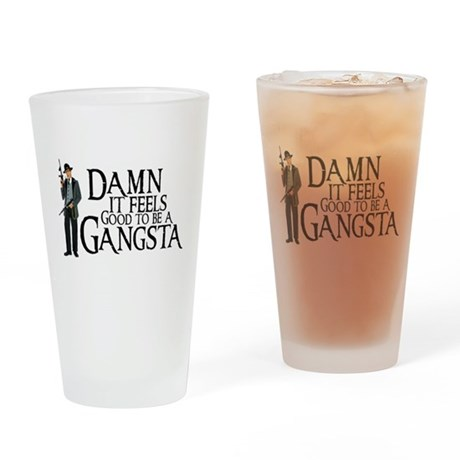 Gangsta Man Drinking Glass