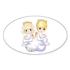 PRECIOUS ANGELS Oval Decal