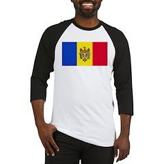 Moldova Moldovan Blank Flag Baseball Jersey