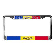 Moldova Moldovan Blank Flag License Plate Frame