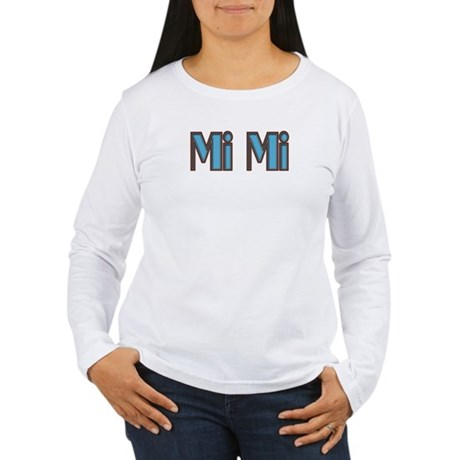 Mimi aqua and brown Women's Long Sleeve T-Shirt