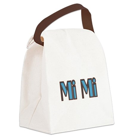 Mimi aqua and brown Canvas Lunch Bag