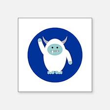 """Lil Yeti Square Sticker 3"""" x 3"""""""