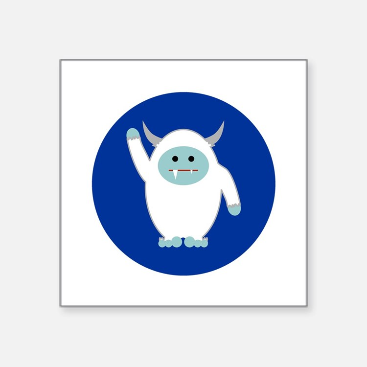 "Lil Yeti Square Sticker 3"" x 3"""