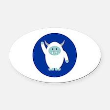 Lil Yeti Oval Car Magnet