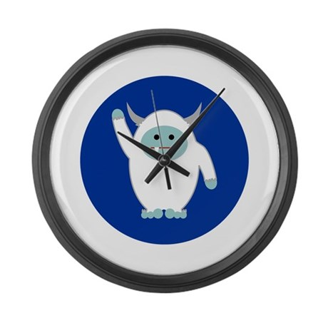 Lil Yeti Large Wall Clock