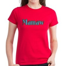 Mamaw, aqua and brown Tee