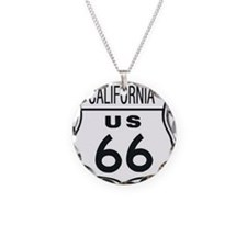 California Route 66 Sign Necklace