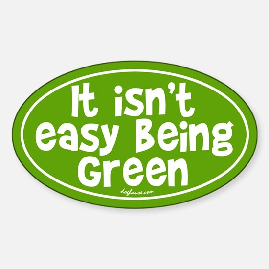 St. Patrick's Being Green (Frog) Oval Decal