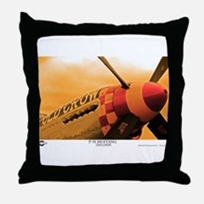 P-51 Mustang Old Crow Throw Pillow