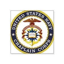 "US Navy Chaplain Square Sticker 3"" x 3"""