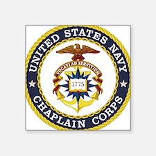 "US Navy Chaplain Square Sticker 3"" x 3"""