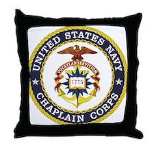 US Navy Chaplain Throw Pillow