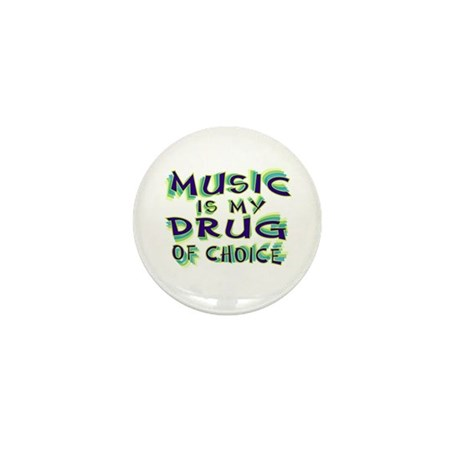 Music Is My Drug (grn) Mini Button