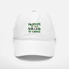 Music Is My Drug (grn) Baseball Baseball Cap