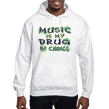 Music Is My Drug (grn) Hoodie