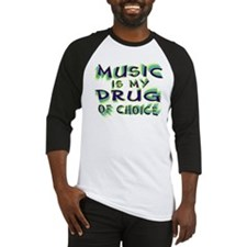Music Is My Drug (grn) Baseball Jersey
