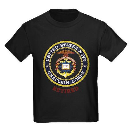Retired US Navy Chaplain Kids Dark T-Shirt