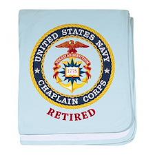 Retired US Navy Chaplain baby blanket