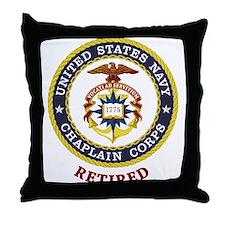 Retired US Navy Chaplain Throw Pillow