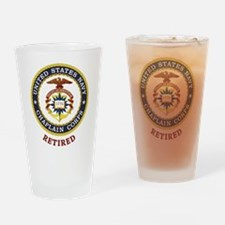 Retired US Navy Chaplain Drinking Glass