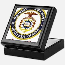 Retired US Navy Chaplain Keepsake Box