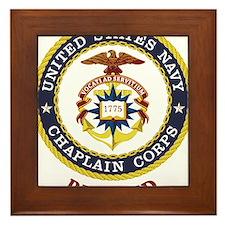 Retired US Navy Chaplain Framed Tile