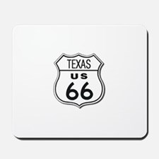 Texas Classic Route 66 Sign Mousepad