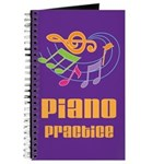 Piano Practice Lesson Notebook Journal