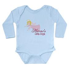 Memaws Little Angel Long Sleeve Infant Bodysuit