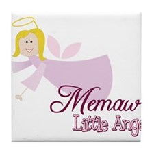 Memaws Little Angel Tile Coaster