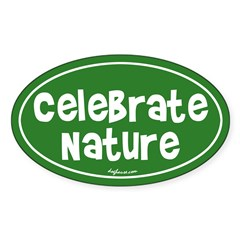 Celebrate Nature Oval Decal