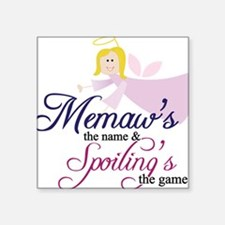 "Memaw Angel Square Sticker 3"" x 3"""