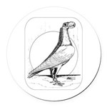 Carrier Pigeon 1978 Round Car Magnet