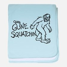 Gone Squatchin baby blanket
