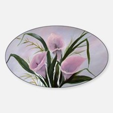 calla lilies Oval Decal