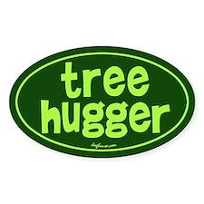Tree Hugger Oval Decal