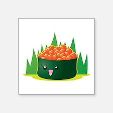 "Ikura Sushi Square Sticker 3"" x 3"""