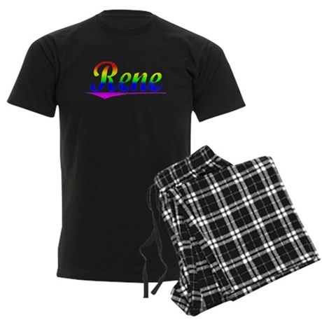 Rene, Rainbow, Men's Dark Pajamas