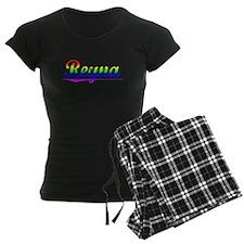 Reyna, Rainbow, Pajamas