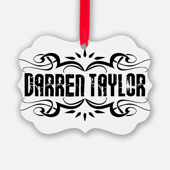 Darren Taylor Name Logo Ornament