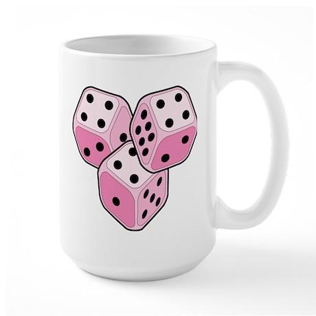 Bunco Breast Cancer Dice Large Mug