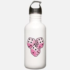 Bunco Breast Cancer Dice Water Bottle