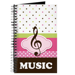 Cute Music Practice Notebook Journal