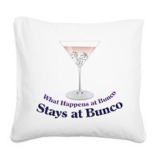 What Happens at Bunco Square Canvas Pillow